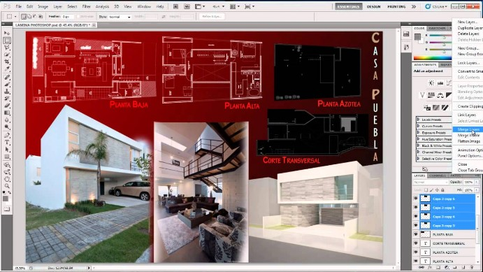 panel - photoshop para arquitectura
